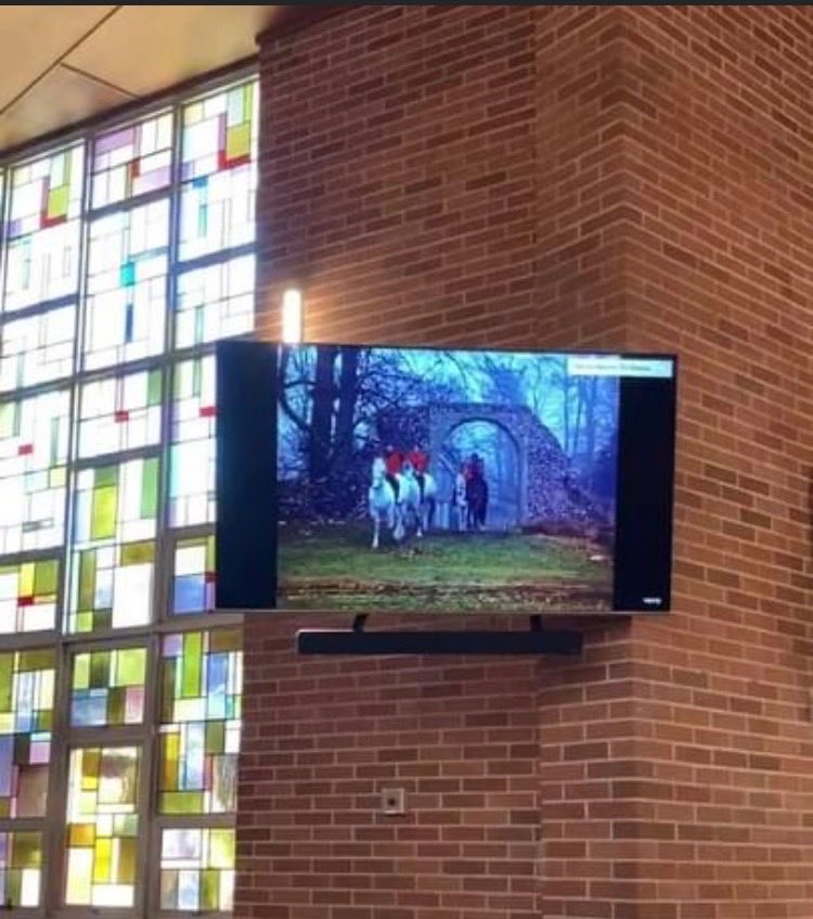 Donated TV and Sound System